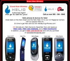 Helio by Virgin Phones